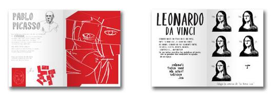 Páginas dedicadas a Picasso y Leonardo da Vinci
