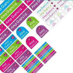 Muestra de paquete combinado de diferentes colores y formatos