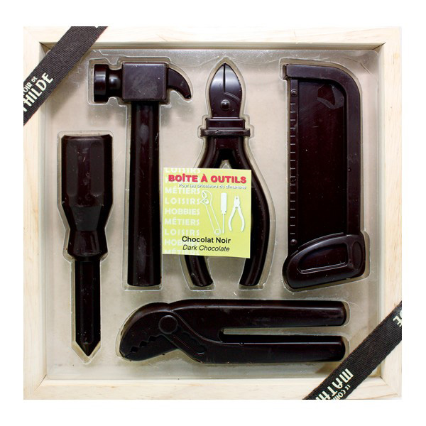 Caja de herramientas de chocolate