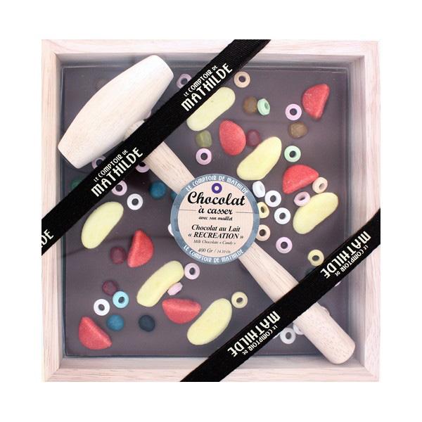 Tableta de chocolate con martillo de Le Comptoir de Mathilde