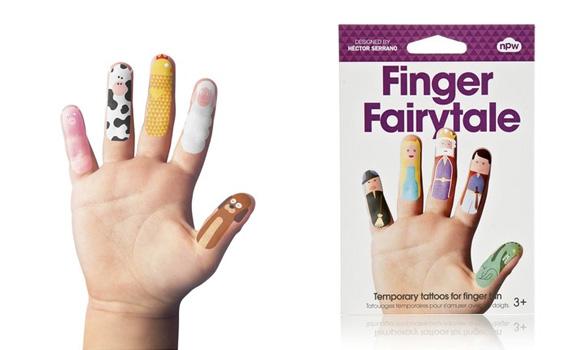 Tattoos infantiles para dedos para regalos para niños