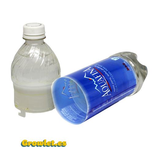 botella de ocultación abierta