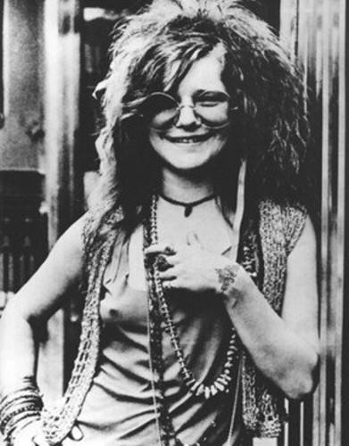 Janis Joplin en blanco y negro