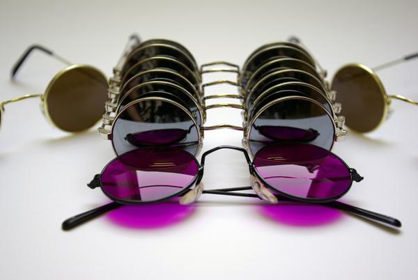 Conjunto de gafas redondas de espejo