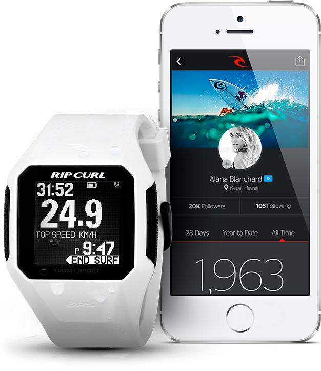 reloj para mareas RIP CURL search con GPS