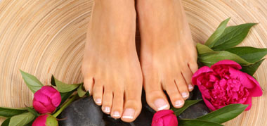 pies tras hacerse una belleza de pies