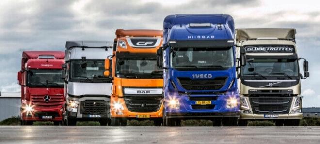 camiones con el curso de capacitación para transporte acreditado