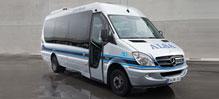 microbus de transporte de pasajeros