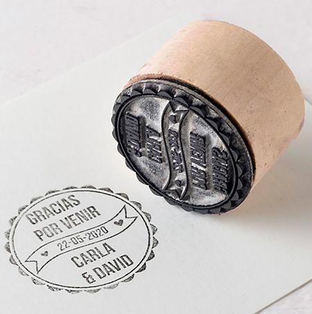 sello redondo para bodas